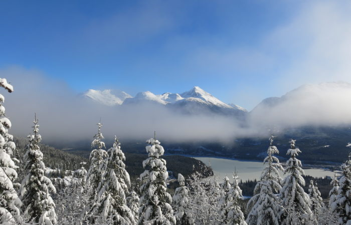 Clouds hang over Whistler BC