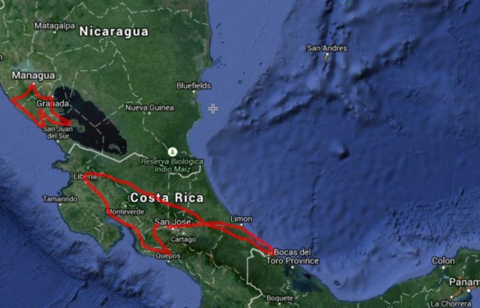 central america travel itinerary