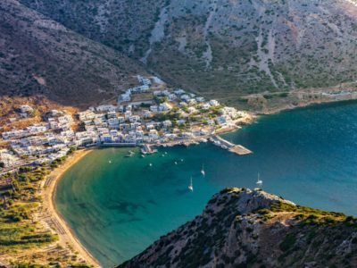 a Greek town on the Mediterranean