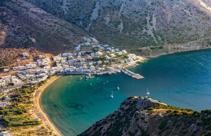 a Greek town on the Mediterranean